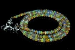 100% Valodi 53.05CT 3-6mm Etiopiai Opal Nyaklanc