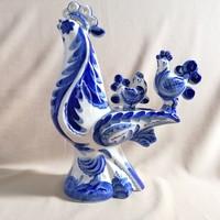 Dekoratív különleges, kézzel festett porcelán tyúkanyó