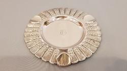 Gyönyörű ezüst tálca, hamu tál búzakalászos díszítéssel