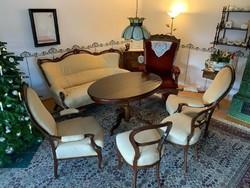 Antik bécsi barok 6 darabos ülőgarnitura