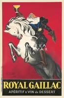 Vintage likőr szeszes ital alkohol hirdetés reklám plakát reprint nyomat nemes lovag fehér ló pohár