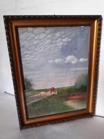 Selyemre festett kép
