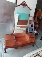 Chippendale, neobarokk fésülködőasztal nagy tükörrel-Olaszországból