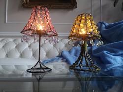 Gyöngy hangulat lámpák, kézműves mécsesek. 22 cm