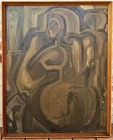 Kárpáti Gusztáv (1941 - 2013) Femina c. olajfestménye 86x70cm EREDETI GARANCIÁVAL !!