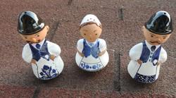 """"""" Szerelmi háromszög """" :-) figurális kerámia asztali fűszertartó készlet - só - borsszóró"""