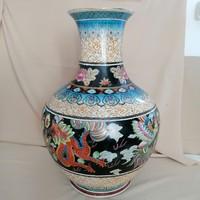 Óriási távolkeleti porcelán váza