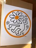 Keith Haring (1958-1990)'Untitled' Giclé-nyomás - 2008-ban Kaith Haring alapítvány kiadása!