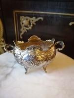 Ezüst  kis kínáló. Barokk stílus. Diana jelzés.