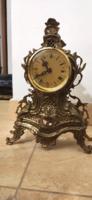 Réz neobarokk asztali vagy kandalló óra