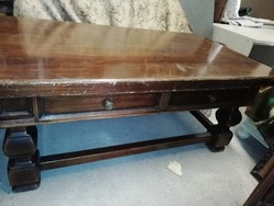 Vintage dohányzóasztal-fa-olasz bútordarab