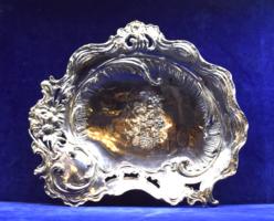 Szívalakú asztalközép, ezüst
