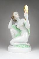 1D728 Herendi porcelán akt fésülködő nő 24.5 cm