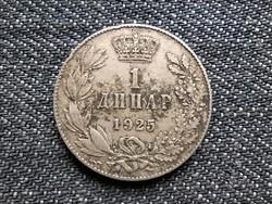Jugoszlávia I. Sándor (1921-1934) 1 Dínár 1925 Poissy Mint (id18802)