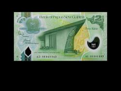 UNC - 2 KÍNA - PÁPUA ÚJ-GUINEA - 2007 (Műanyag bankjegy!)