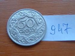 LENGYEL 50 GROSZY 1923 W Varsó, 98% nickel #947