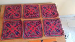 Retro textil tányéralátét  6 db