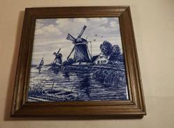 Delfti csempe keretben