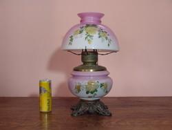 Antik   GWTW asztali porcelán petróleum lámpa