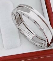 Eredeti hiteles Bvulgari 18 k fehér arany gyűrű