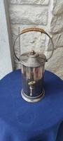 Kàvé föző, különleges ritkasàg ezüst jellegű, Szamovár csap, fazonú! Kiváló Art-Deco darab, Retro!