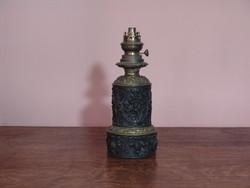 Antik dekoratív francia petróleum lámpa