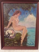 Illencz Lipót (1882-1950) Akt a vízparton