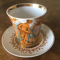 Orosz hatalmas tea csésze és alj