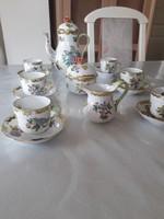 Herendi 6 személyes komplett porcelán kávés készlet