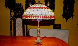 Tiffany lámpa réz talppal, hatalmas 70 cm
