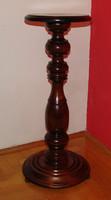 V46 Gyönyörű fa posztamens, szobortartó, virágtartó állvány