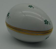 V9 Herendi zöld virágmintás tojás bonbonier - gyönyörű, hibátlan állapotban