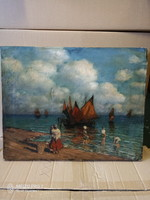 Eredeti Budai Sándor (1891-1973) olaj festmény
