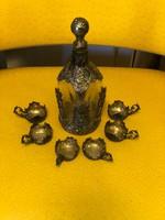 Bécsi ezüst palack eredeti csészékkel