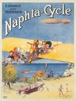Vintage közlekedés reklám plakát reprint nyomat sport repülő gyerekek automobil tengerpart léghajó