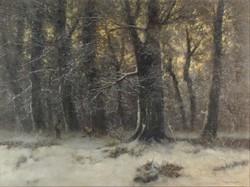 Vitéz Sashegyi Kálmán : Vadászok a havas erdőben
