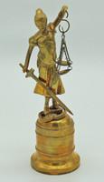 B415 Justicia szobor - réz mestermű - meseszép gyűjtői darab