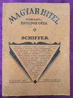 1931 - Magyar hitel - szerkesztő : Zsoldos Géza - A Grünwald-Schiffer-féle családi szerződés...