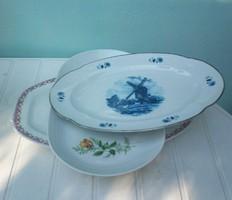 Porcelán kézi festett pecsenyés tálak, nagyobb méret