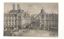 Münchenből Pécsre Deutsches Reich német Képeslap DR Németország szép régi lap Karistol j9