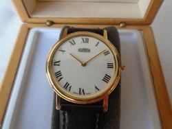 Extra luxus szinte papír vékony klasszikus öltöny óra melyben egy csúcs 8 köves szerkezet dolgozik