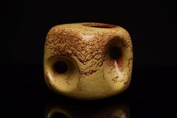 Régi Bertoncello Cube kerámia Váza / Retró váza / Olasz kocka váza