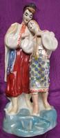 Régi porcelán szobor - 27 cm.
