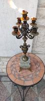Gyönyörű antik luxus gyertyatartó,kerti parti, ünnepi jellegű,màrvàny talp, Francia antik