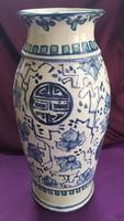 Kézzel festett kerámia váza - 39 cm.