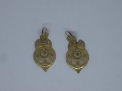 Gyönyörű arany filigrán fülbevaló pár
