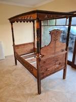 1852-es évszámos festett sárközi? baldachinos népi plébánosi ágy