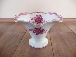 Antik Herendi purpur Apponyi mintás váza