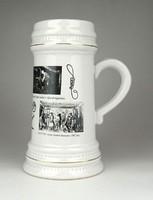 1D762 OMBKE porcelán bányász söröskorsó 20 cm
