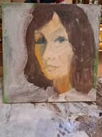 Olaj vászon - Női portré